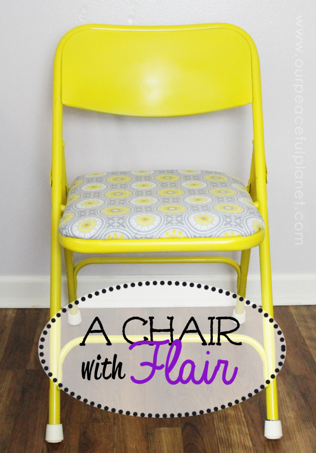 Do you have a piece of furniture that's functional but ugly? This folding chair was one such item. I'll show you how I did a quick yet dramatic and inexpensive makeover that turned this icky item into something gorgeous!