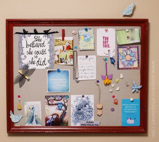 Make An Inspiration Board Amp Custom Thumbtacks