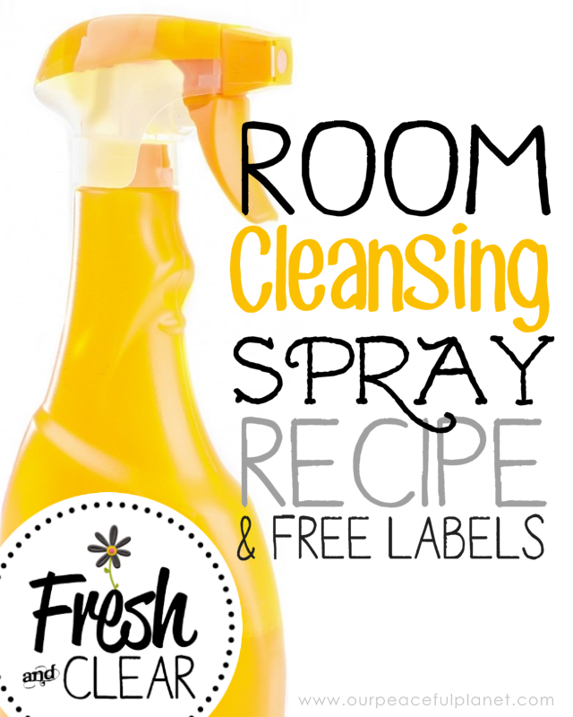 This simple to make air freshener room spray will kill germs, remove odors, freshen the air, lift your mood and clear negative energy from your room!