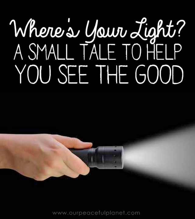 Sometimes we look around us and get discouraged by all the bad stuff we see. This little tale can change your struggle and perspective in a big way.