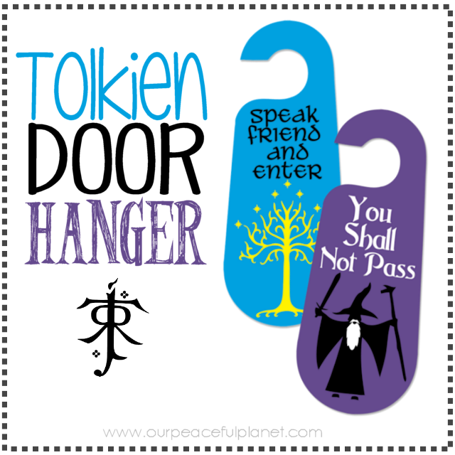Free printable pattern to make this double sided Gandalf You Shall Not Pass door hanger with Speak Friend and Enter on the back. Made from foam board!