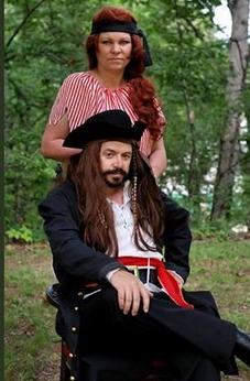 Talk Like a Pirate Day Celebration Nancy and Captn Roy