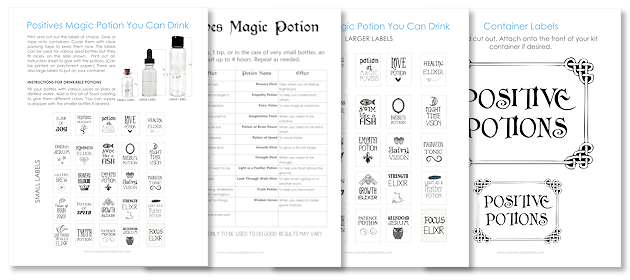 photo relating to Advanced Potion Making Printable named Absolutely sure Potions Package : Magic Potions By yourself Can Consume