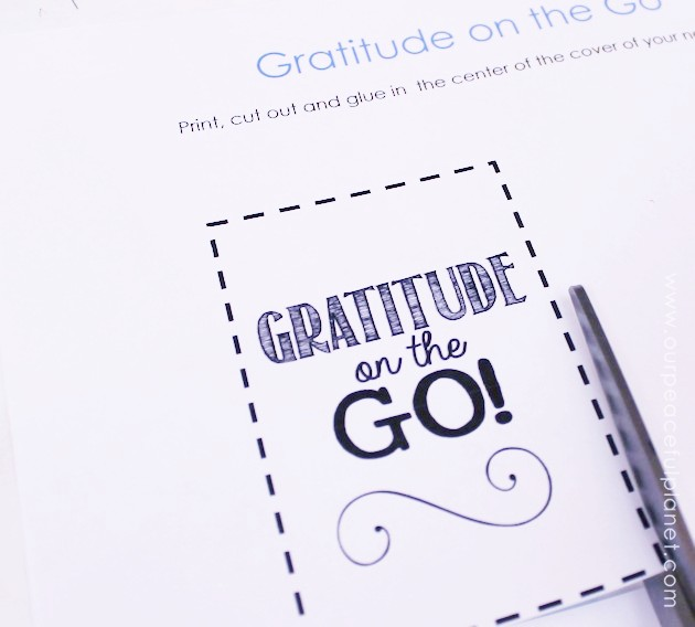For a fun unique gratitude activity for any age, grab a tiny spiral notebook, our free printouts and make a Gratitude on the Go book. Instructions included!