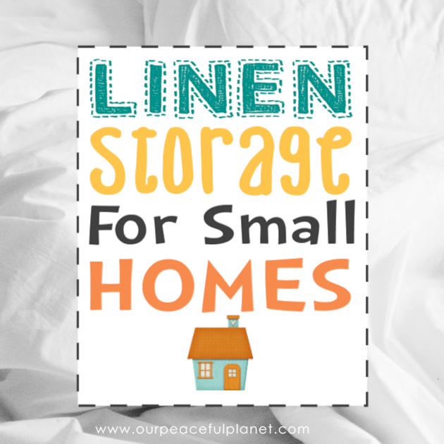 No place for linen storage in your small house? Here's an idea that keeps your sheets handy plus utilizes the typically unused space use of the space under your bed!