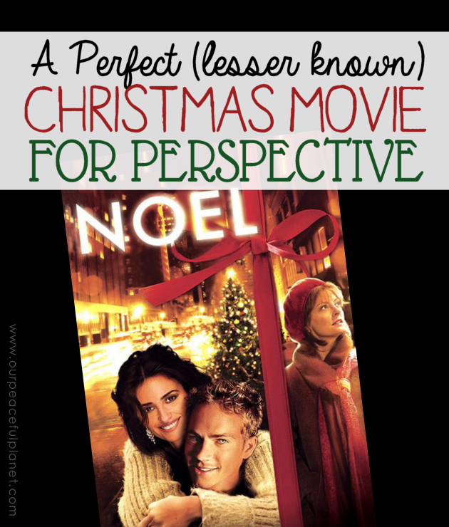 Noel is a lesser known Christmas movie that encompasses the underlying true message of the holiday. You'll come away from it with a different perspective.