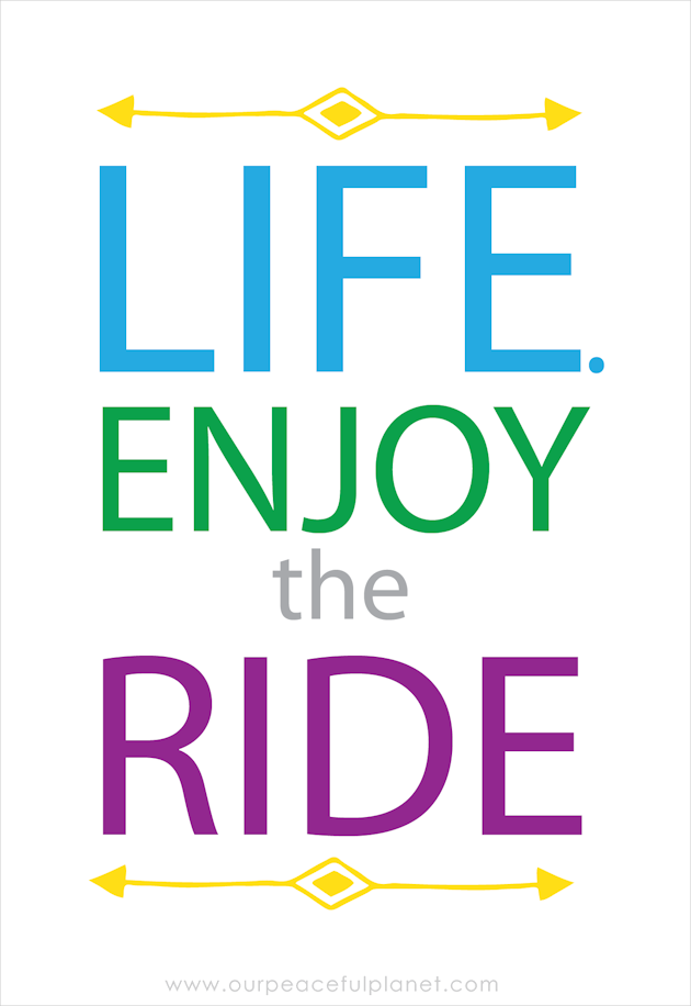 LIFE. Enjoy the Ride!