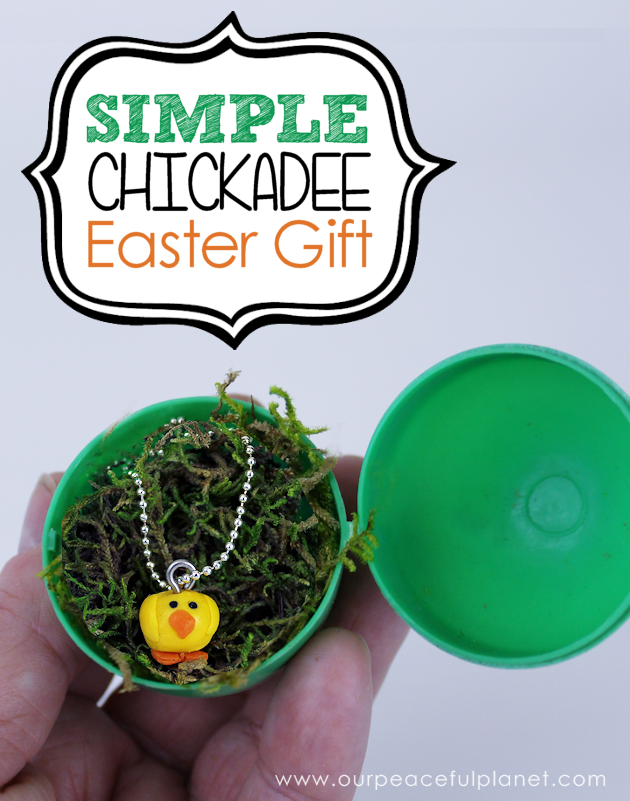 "A quick yet personal Easter Gift you can make for any age. These little chickadees are simple and inexpensive. ""Wrap"" in a plastic egg for a personal touch!"