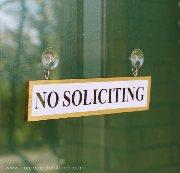 Diy Wood Hanging No Soliciting Signs Free Printables