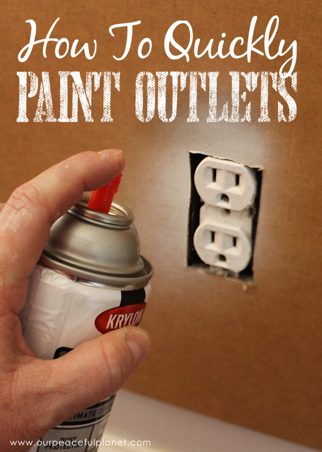 Save Time Amp Money By Painting Outlets Our Peaceful Planet