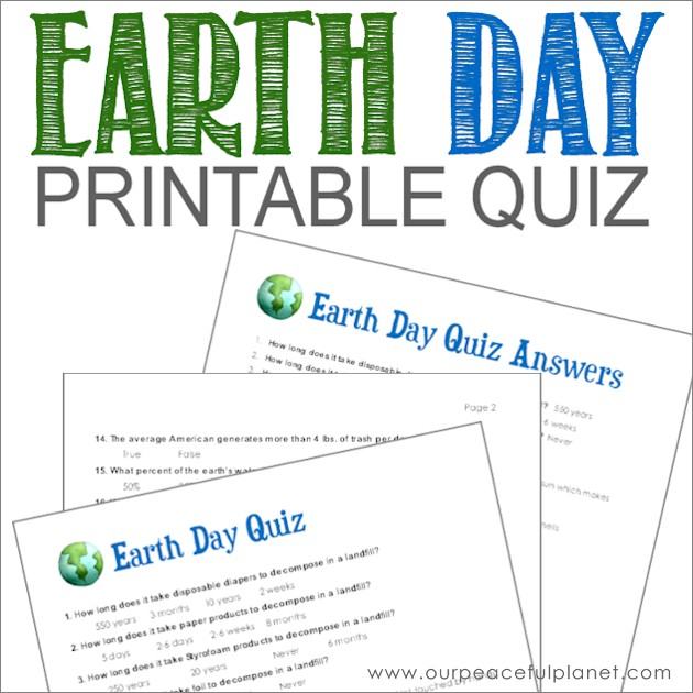picture about Printable Quizzes for Fun identify Entire world Working day Quiz (Absolutely free Printable)