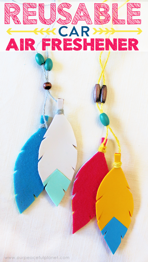How To Make A Colorful Reusable Car Air Freshener