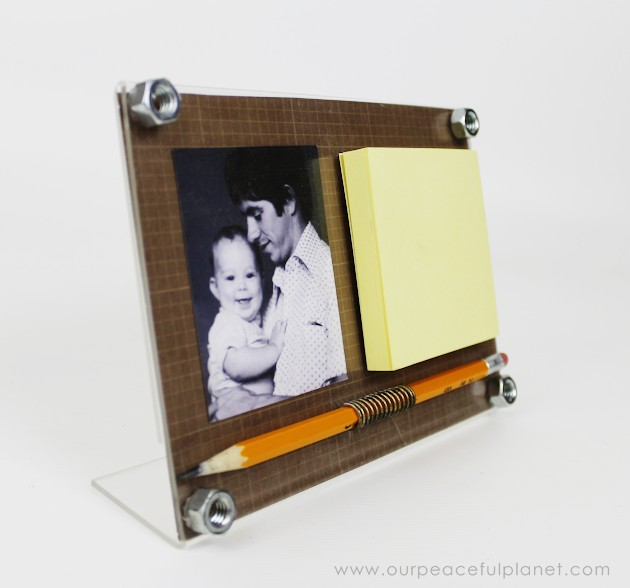 Nuts Bolts Post It Frame Plus Best Diy Fathers Day Gift Ideas