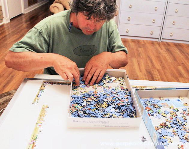 Quick Diy Jigsaw Puzzles Work Station Storage Set