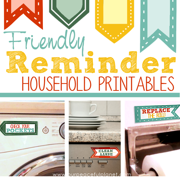 Friendly Reminders Household Printables SQ