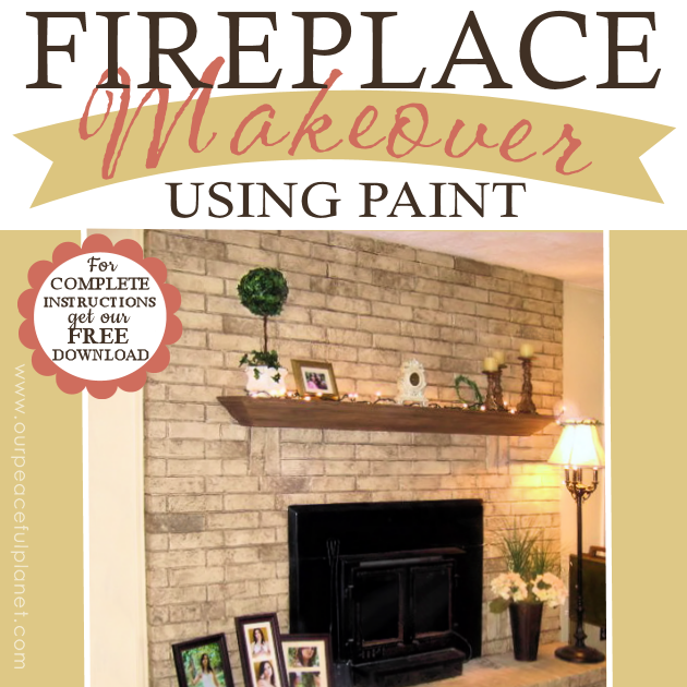 You won't believe how easy & inexpensive it is to do a dramatic fireplace makeover! All you need is some normal paint and a wadded up paper bag. No kidding!