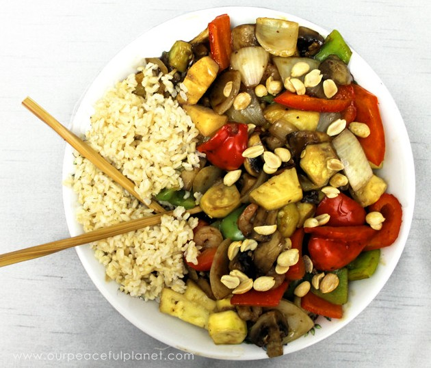 "The best thing about this quick, yummy & healthy stir fry recipe is there's no measuring! Grab the veggies you like, some ""special sauce"" & your chopsticks!"