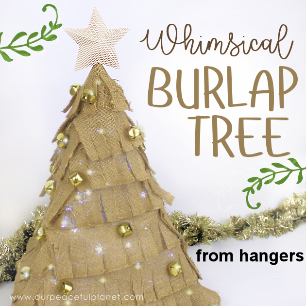 how to make a small burlap christmas tree using hangers - Burlap Christmas