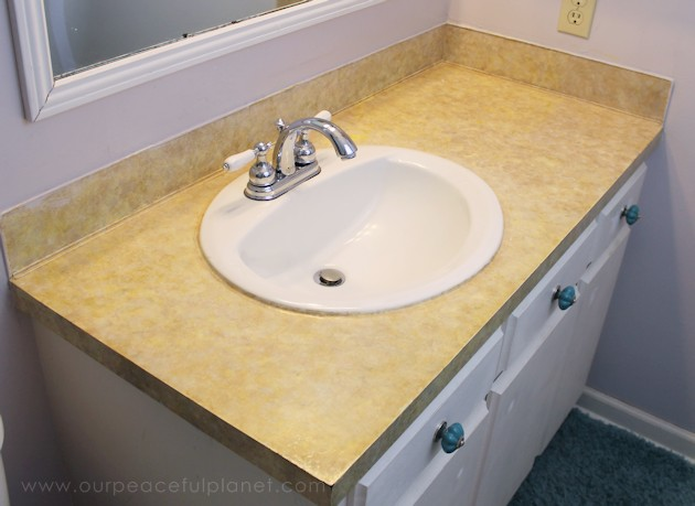 How To Do A Sturdy Stunning Granite Contact Paper Countertop