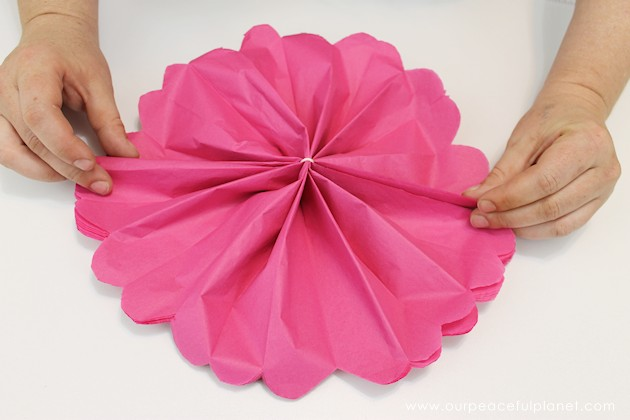 For simple & unique window treatment ideas you'll love our tissue paper flower window