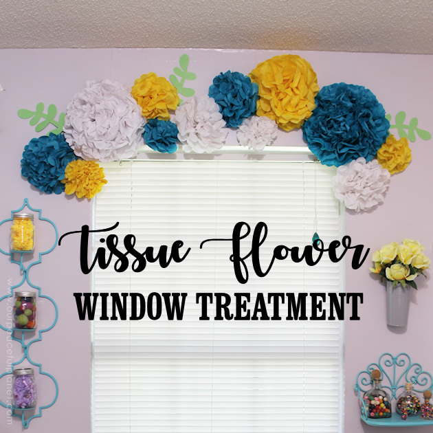 Unique simple tissue paper flower window treatment ideas for simple unique window treatment ideas youll love our tissue paper flower window mightylinksfo