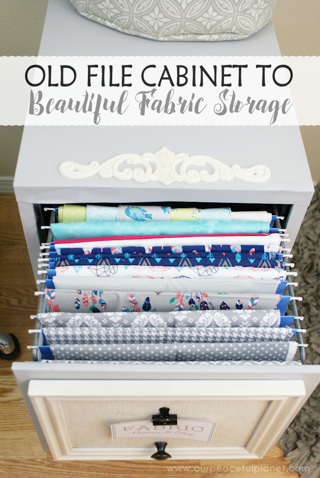 Looking for a way to store all those pieces of fabric you've been collecting? Well it ends up a 2 drawer file cabinet might be the answer to your problems!