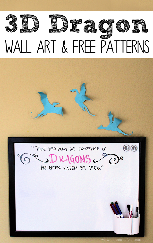 Get your free download for an amazing 3D dragon craft to decorate your walls. A simple and delightful way to add a little magic to any room, adult or child.