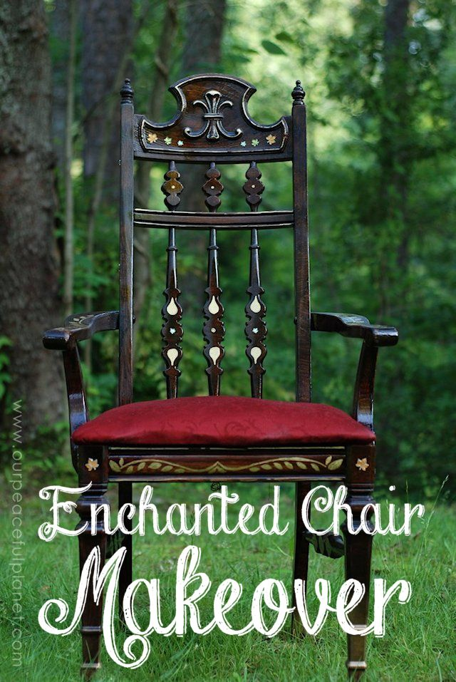 Enchanted Chair Makeover www.ourpeacefulplanet.com