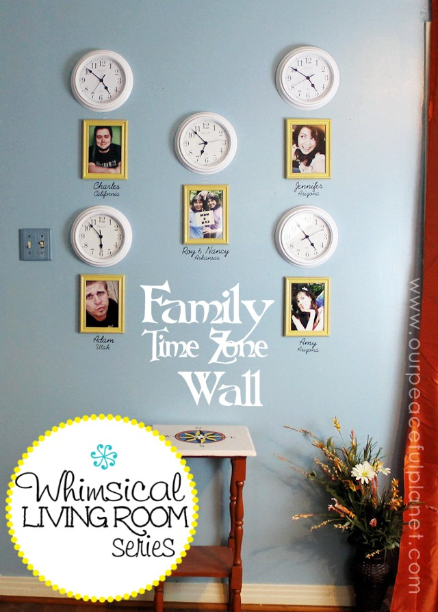 Whimsical Living Room Family Time Zone Wall