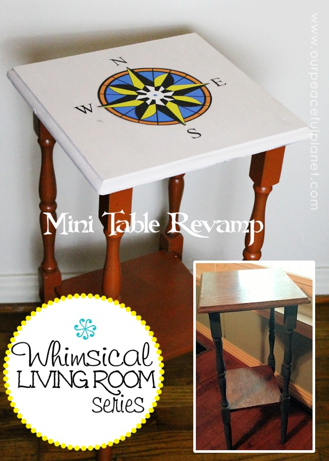 Whimsical Living Room Makeover Mini Table Revamp