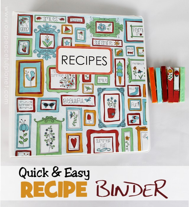 Quick and Easy Recipe Binder