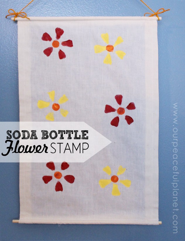 Soda Bottle Flower Stamp DIY