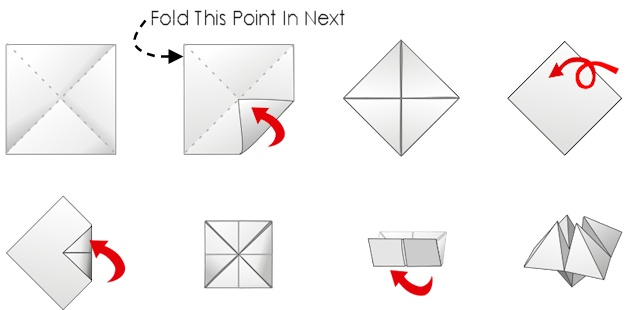 image regarding Printable Cootie Catcher Template named Totally free Halloween Cootie Catcher Template