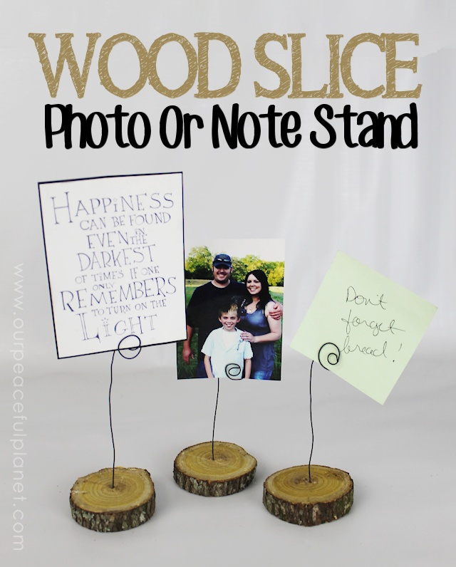 Wood Slice Photo or Note Stand 1