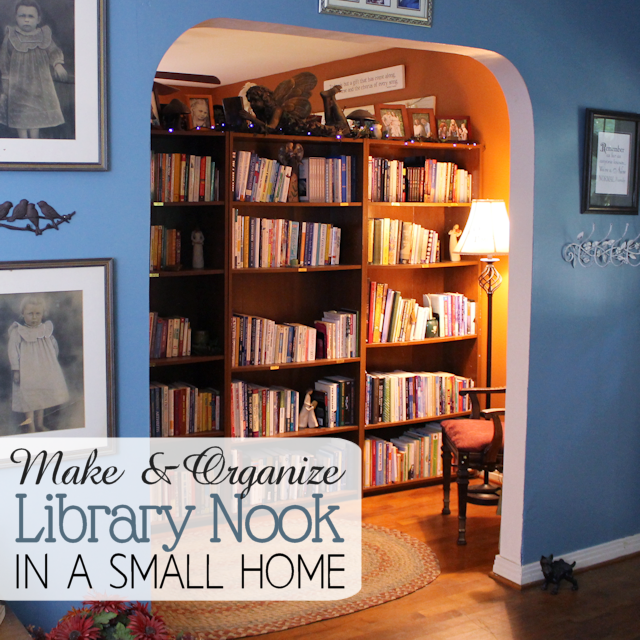 Make and Organize a Library Nook in a Small Home SQ