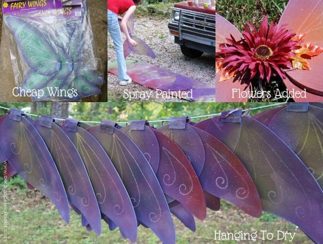 Painting Store Bought Fairy Wings